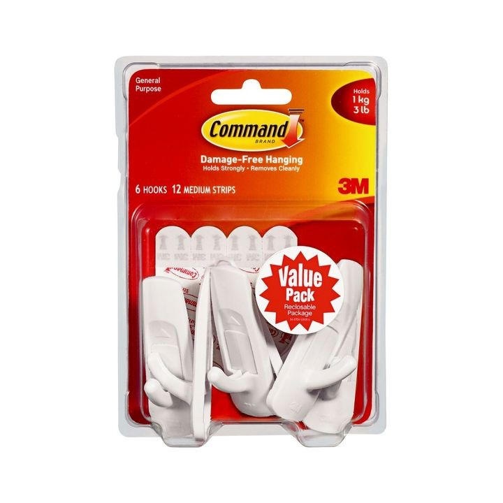 Command™ Medium White Value Pack Hook & Strip Kit