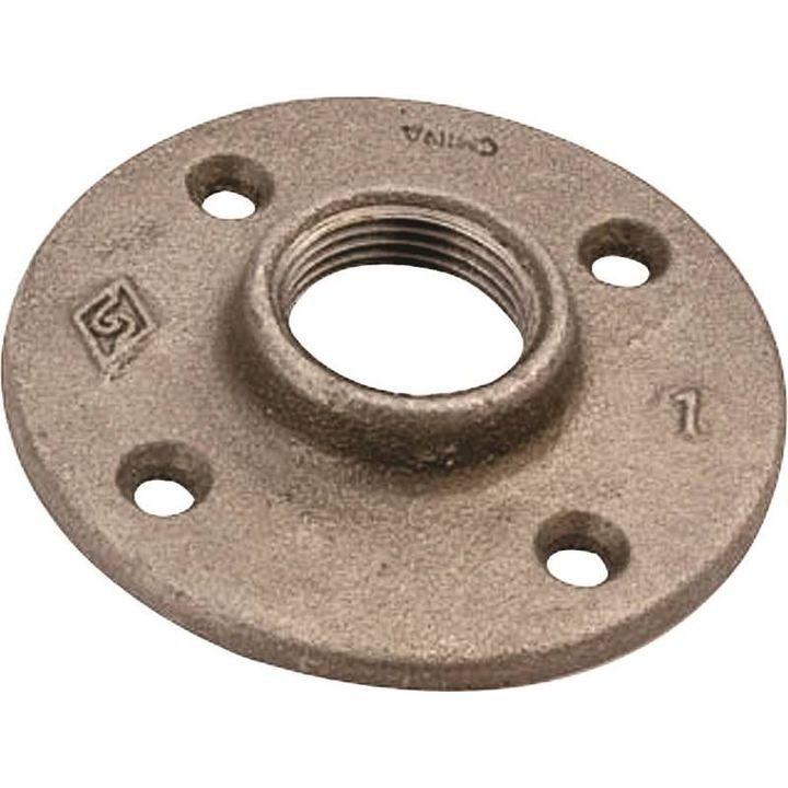 "1/2"" Malleable Iron Black Oxide Floor Flange"