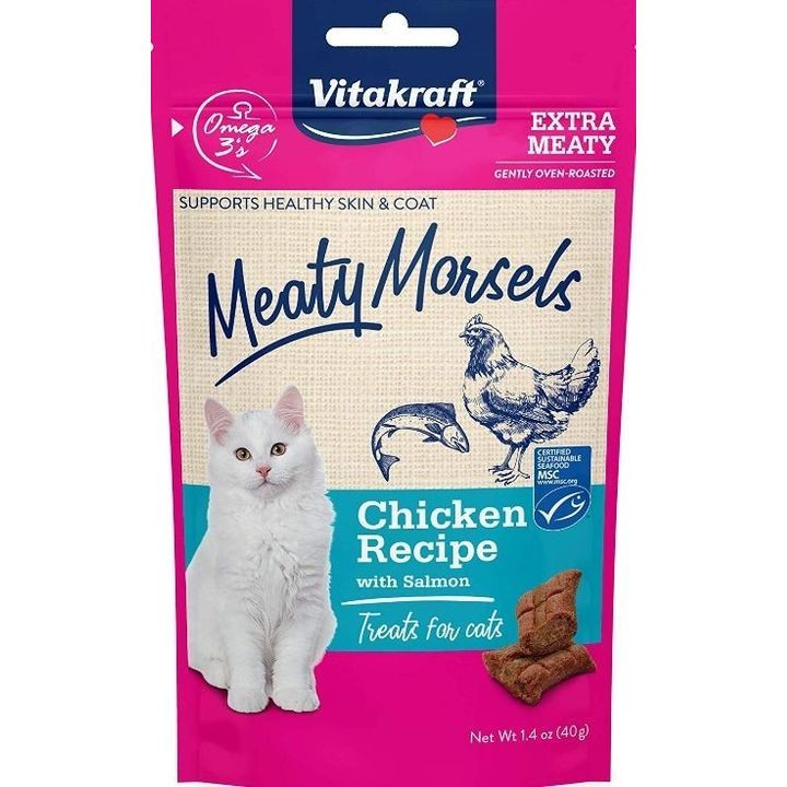 1.4 Oz Meaty Morsels Chicken & Salmon Cat Treat