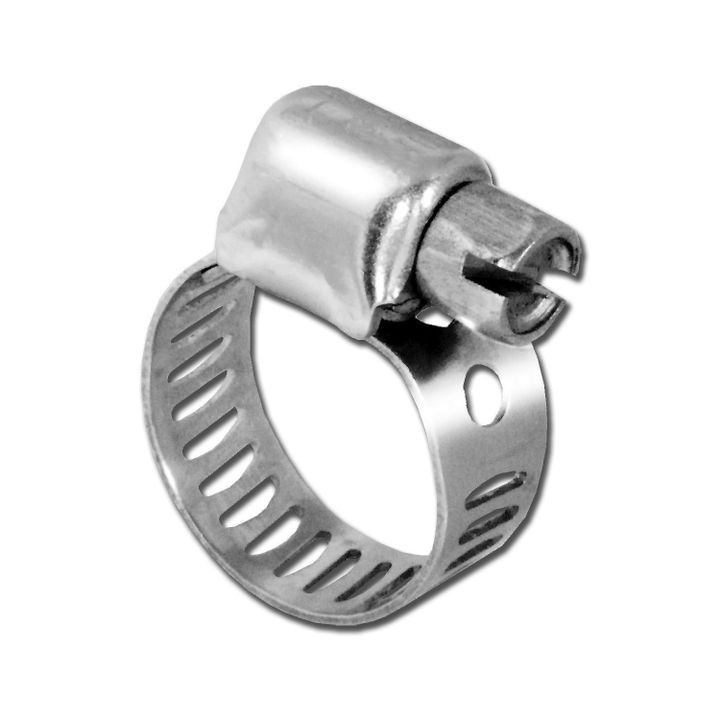 "1/4"" - 5/8"" Size 4 Stainless Steel Hose Clamp"