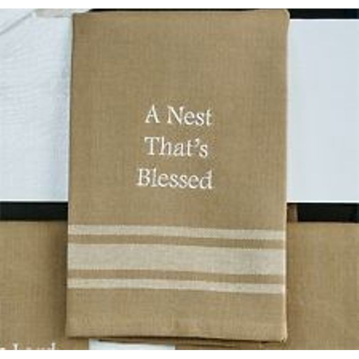 """Nest That's Blessed"" Hand Towel"