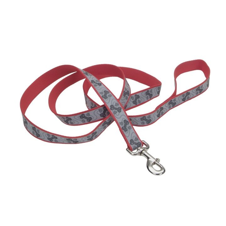 "1/6"" Red Paws Lazer Brite Reflective Dog Leash"
