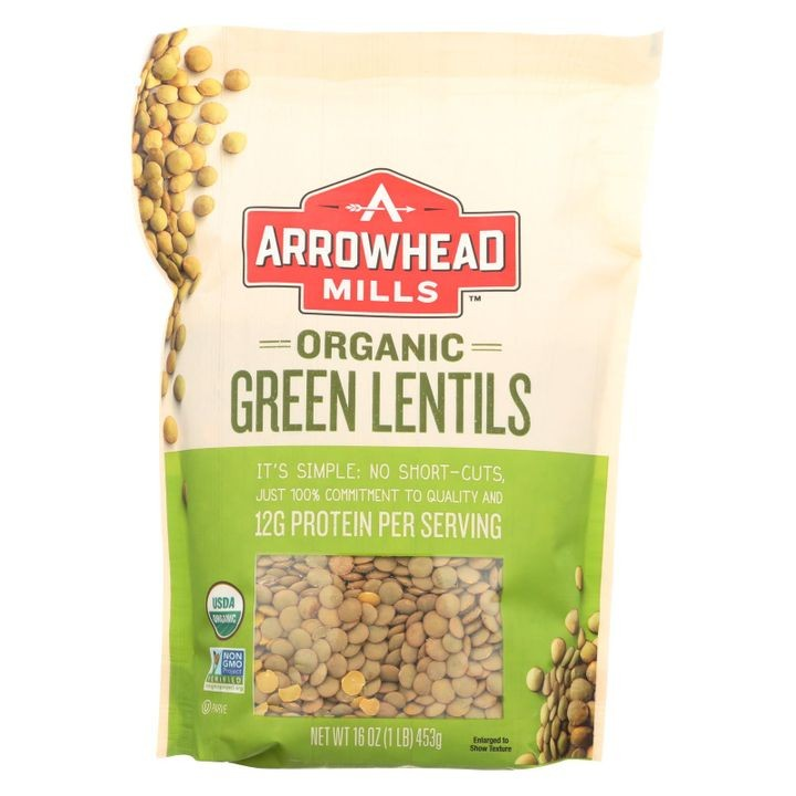 - Organic Green Lentils - Case Of 6 - 16 Oz.