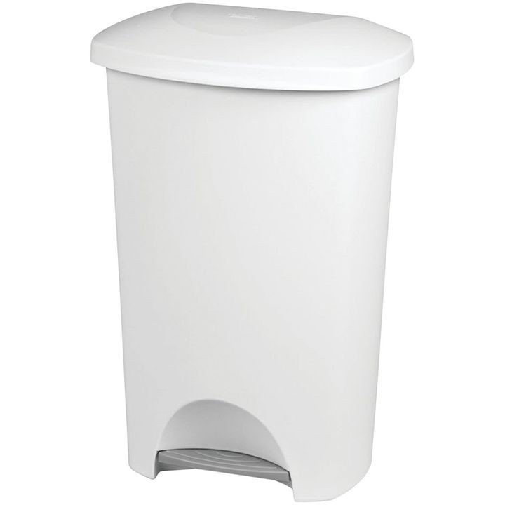 11 Gal Capacity Plastic White Waste Basket