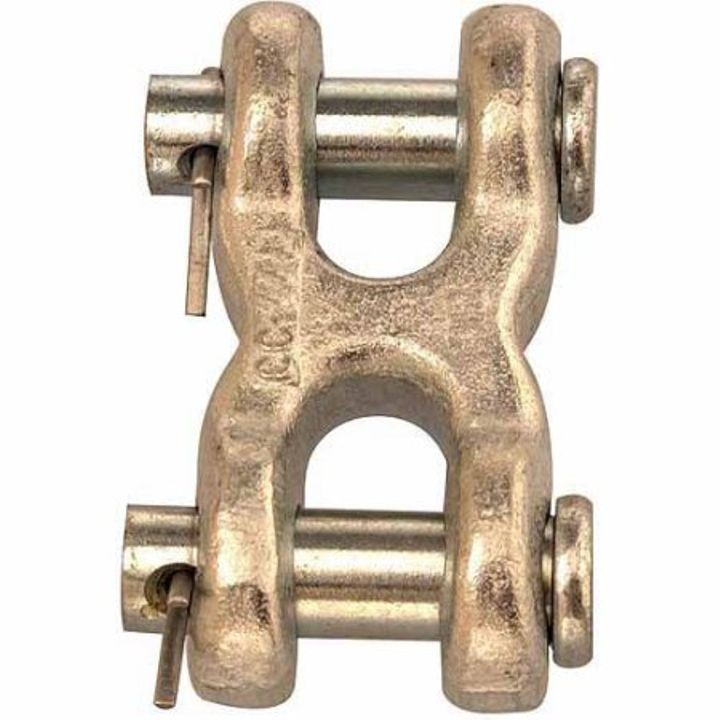 "7/16""- 1/2"" Twin (Double) Clevis Link - Zinc Plated Forged Steel"