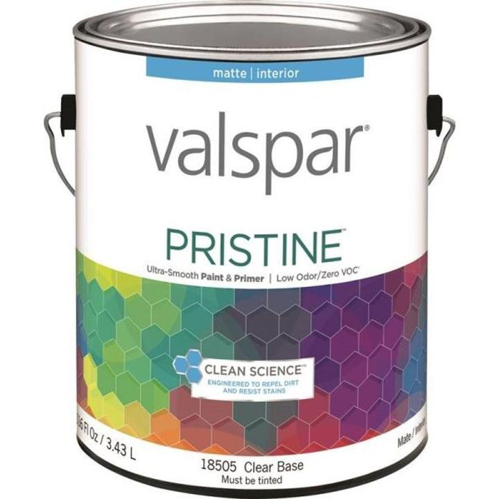 1 Gallon Matte Clear Base Pristine Latex Paint & Primer