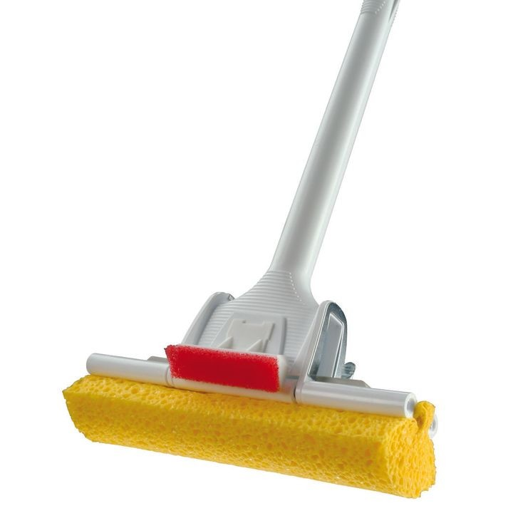 055 4 Sponge Mop, For Use With 0553 Type P Roller Refill, Cellulene� Sponge, 54 In Powder Coated Steel Handle