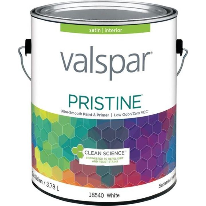 1 Gallon Stain White Base Pristine Latex Paint & Primer
