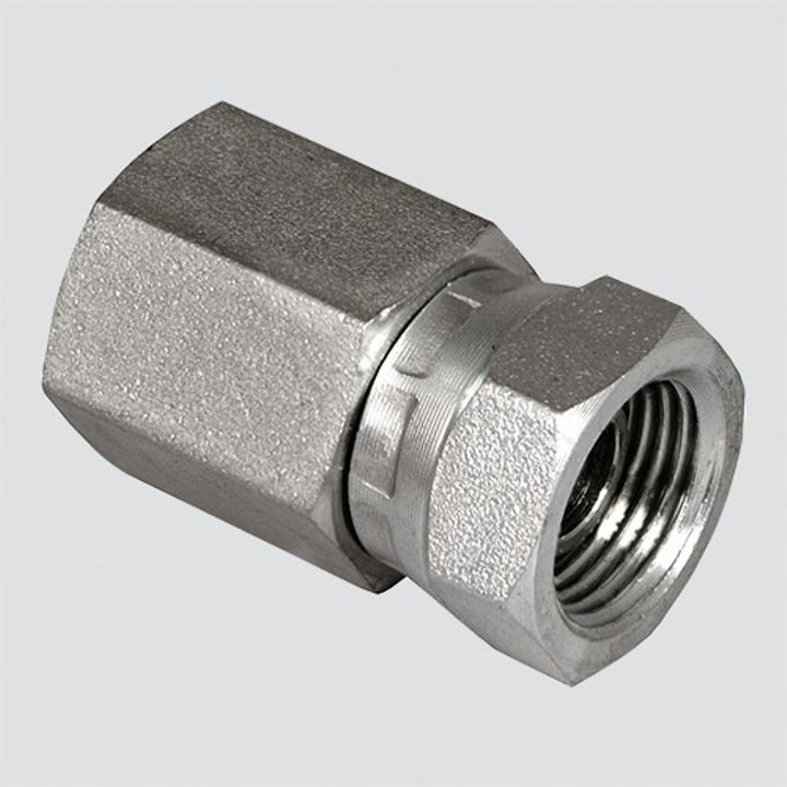 1/2 Inch Female Pipe Thread x 3/8 Inch Female Pipe Thread Swivel Hydraulic Adapter