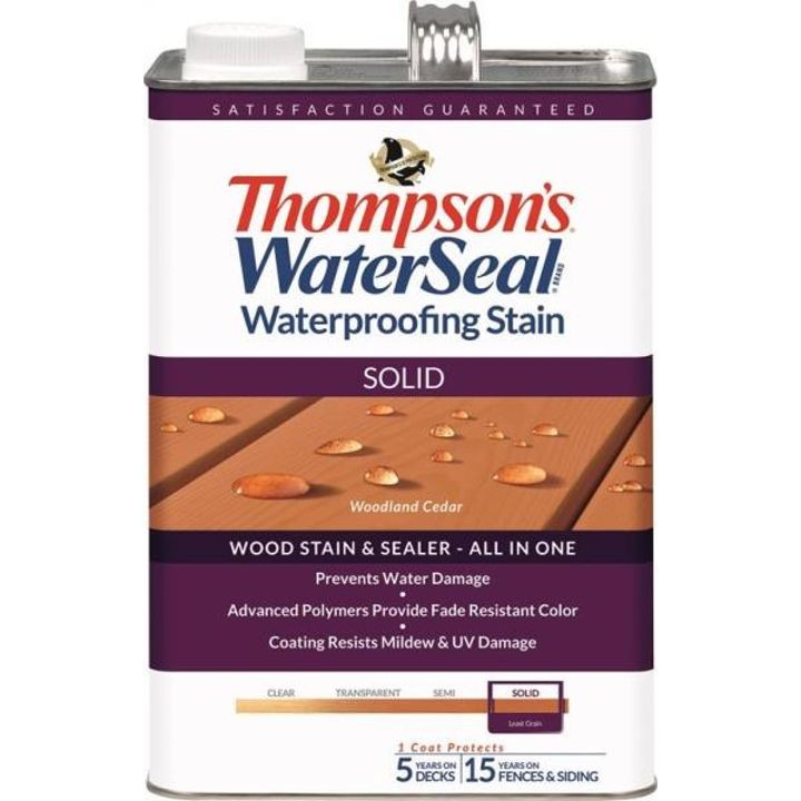 1 Gallon Thompsons Solid Woodland Cedar Waterproofing Stain