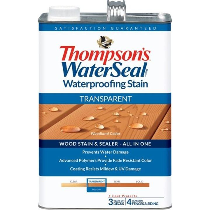 1 Gallon Thompsons Woodland Cedar Transparent Waterproofing Stain