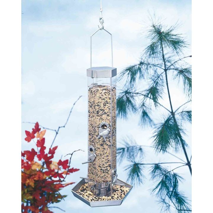 Silver Series Combo Bird Feeder With Tray