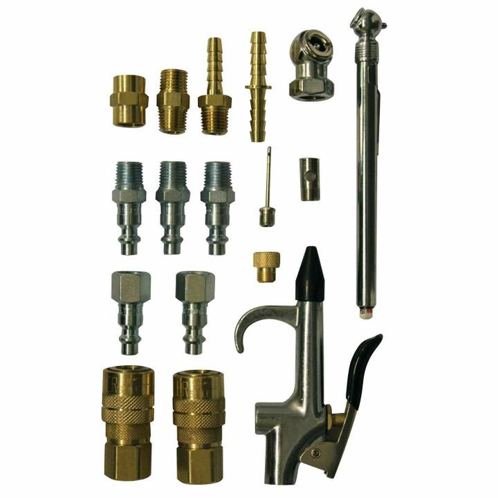 1/4 NPT 16 Piece Compressor Accessory Kit