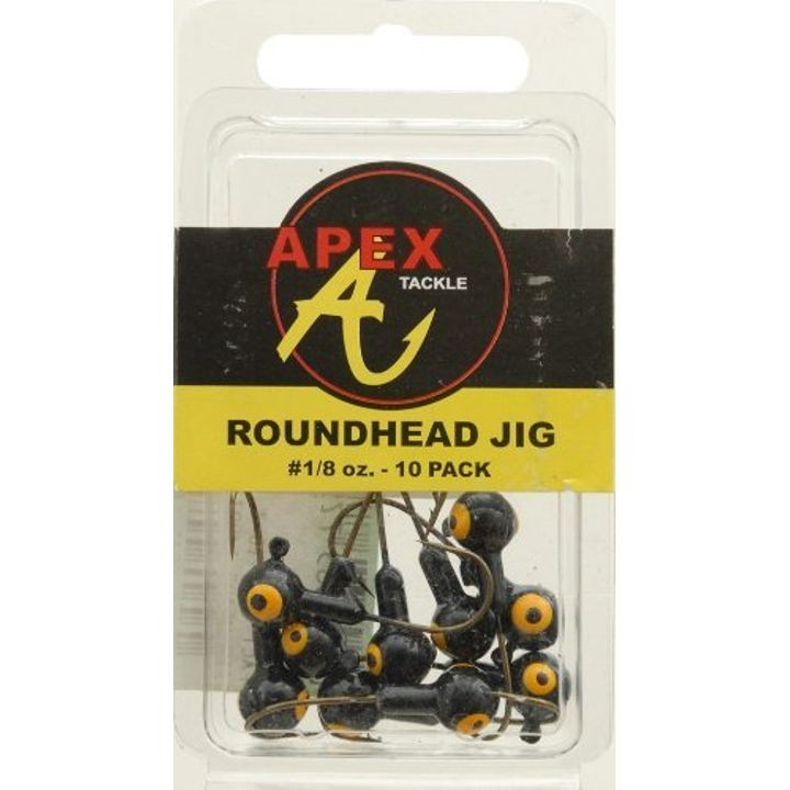 Jig Heads (Pack of 10), Black, 1/8-Ounce