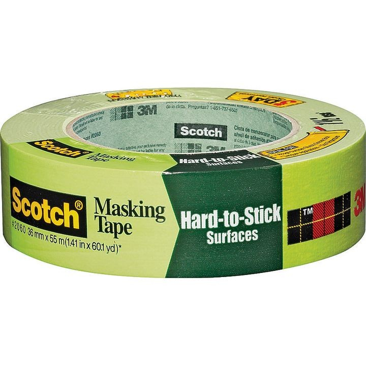 Scotch 2060-1A Masking Tape for concrete brick and grout lot of 4