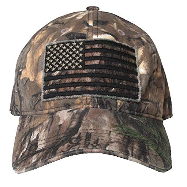 Men s Smooth Operator Hat with Black Out American Flag  4c9e73b7642