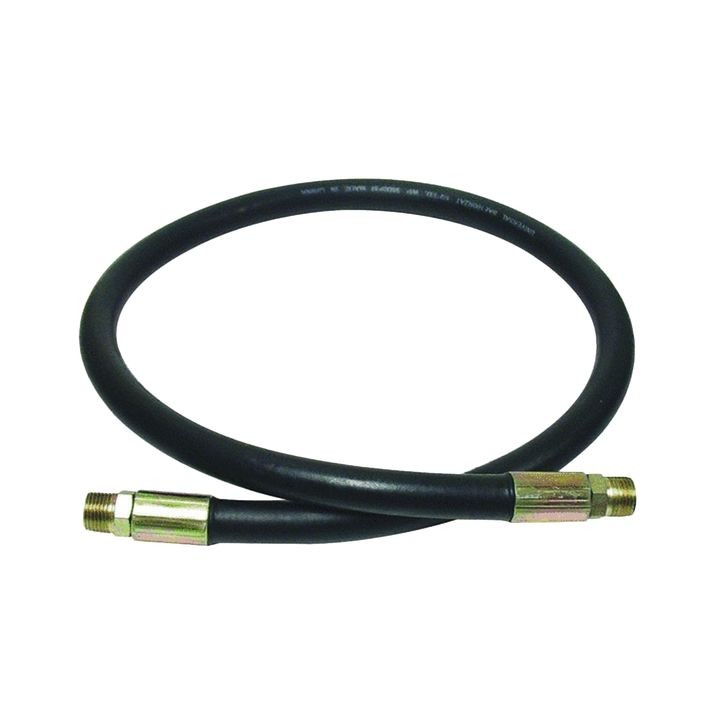 "1/2"" x 12"" Male x Male 2-Wire Hydraulic Hose Assembly"
