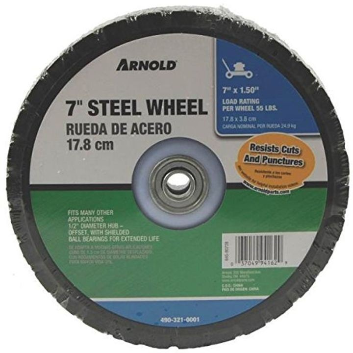 "7"" X 1.50 BB Offset Steel Wheel"