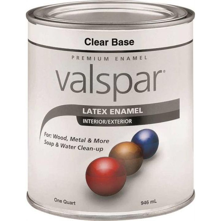 1 Quart Clear Base Premium Latex Enamel Paint