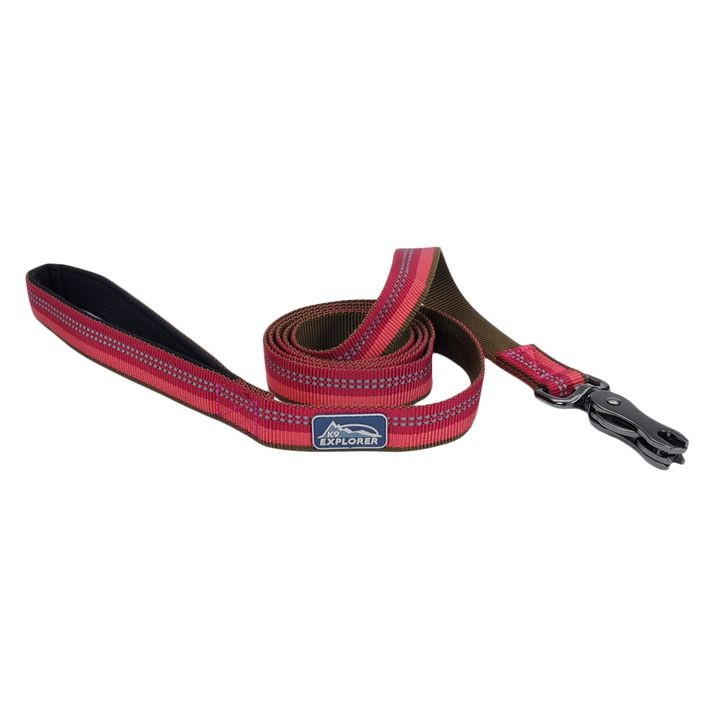 "1"" X 6' K9 Explorer® Reflective Berry Dog Leash with Scissor Snap"