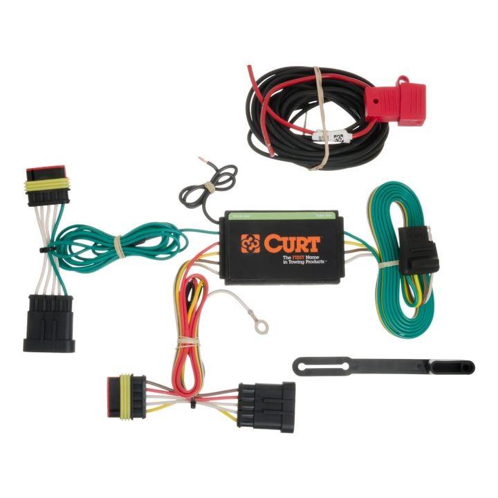 Curt Custom Wiring: Custom Wiring Harness (4 Way Flat Output) on