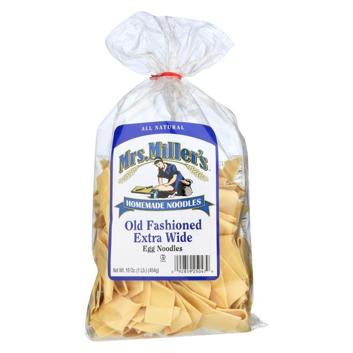 - Old Fashioned Extra Wide Egg Noodles - Case Of 6 - 16 Oz.