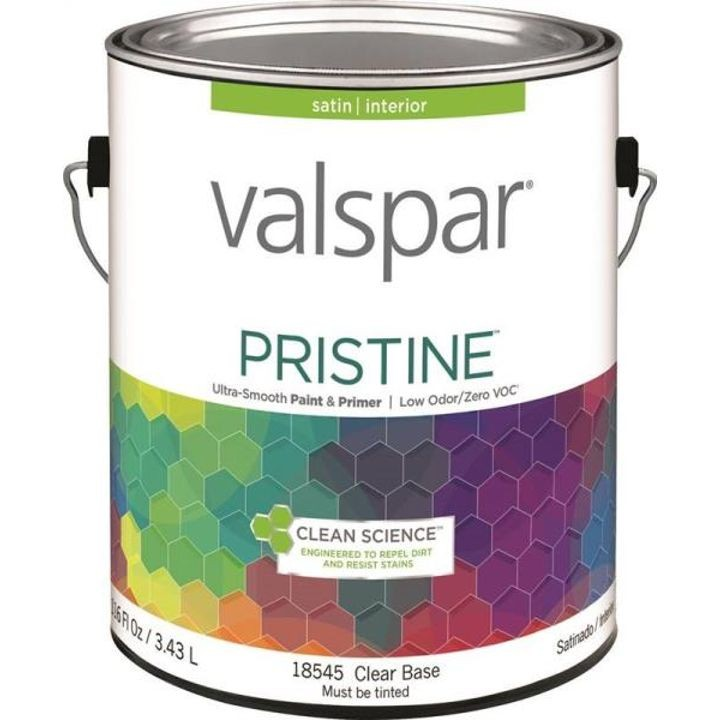1 Gallon Stain Clear Base Pristine Latex Paint & Primer