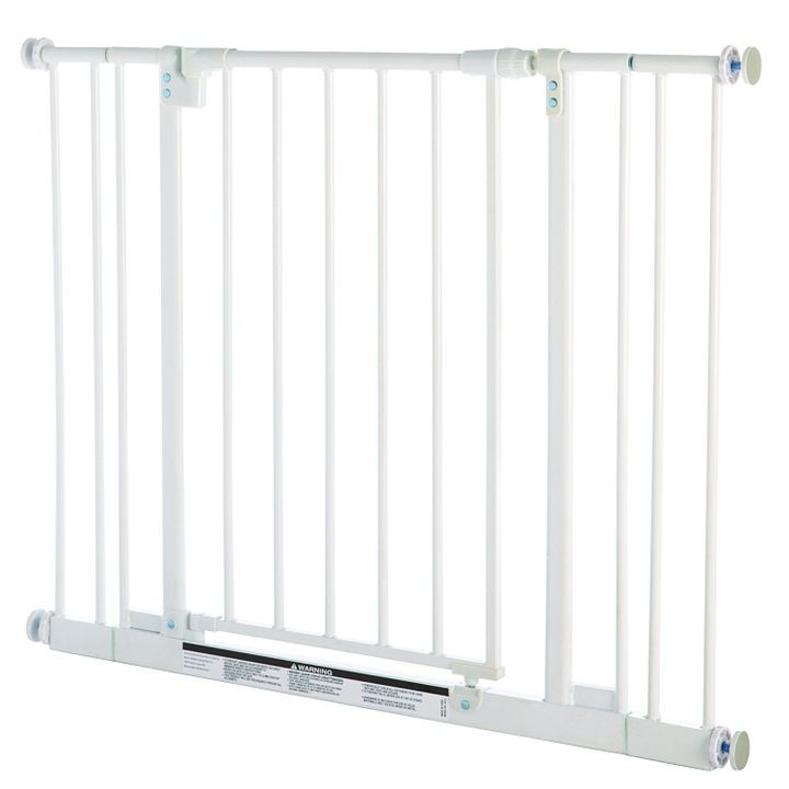 Easy Close Pet Gate in White