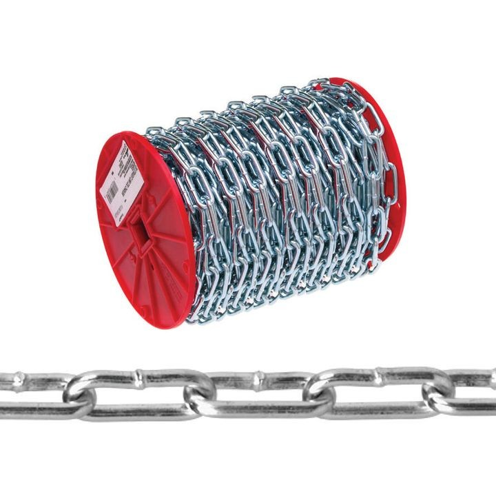 072 2827 Straight Link Chain, No 2 X 40 Ft, 520 Lb, Low Carbon Steel