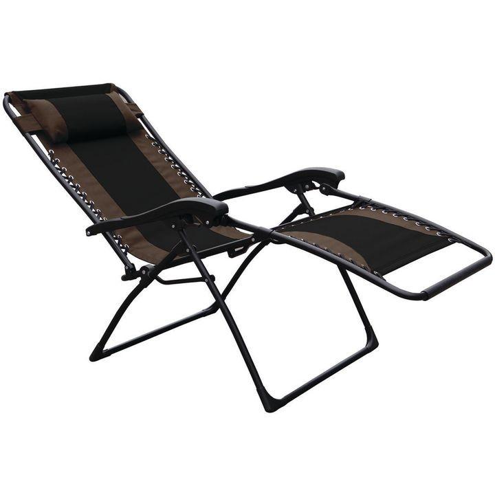 Seasonal Trends F4341oxbkox30 64 Chair Essentials Patio Extra Large Black Tan