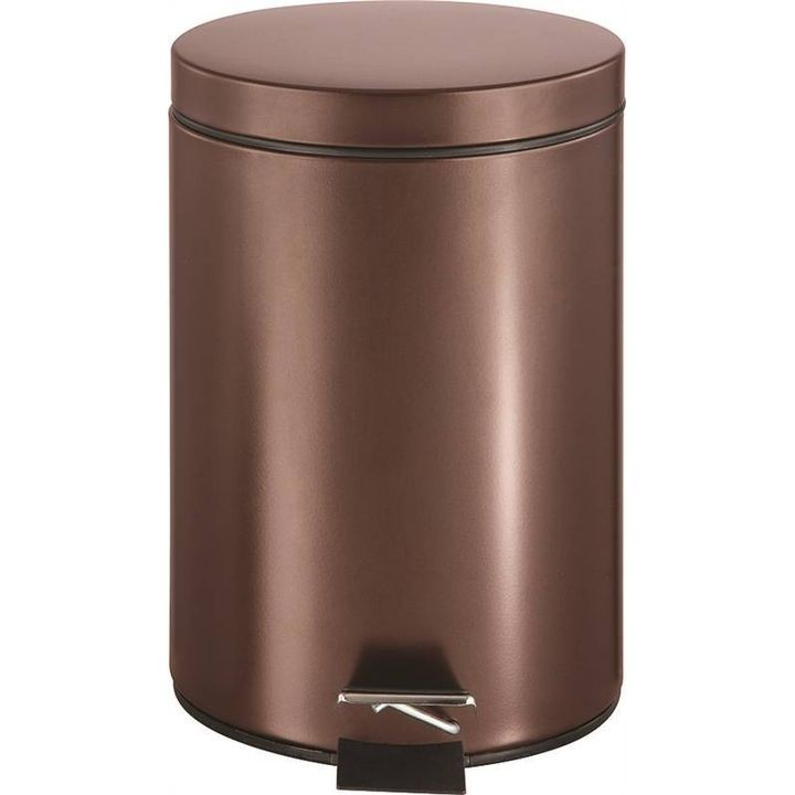 1.85 Gal Venetian Bronze Round Trash Can