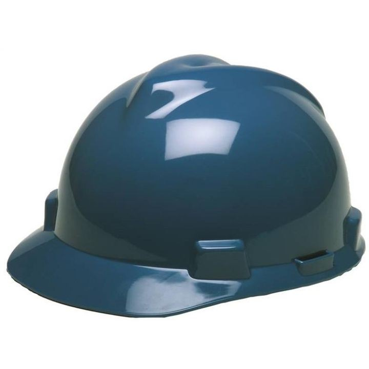 , 6-1/2 - 8 Inches Front Brim Slotted Polyethylene, Blue Hard Hat