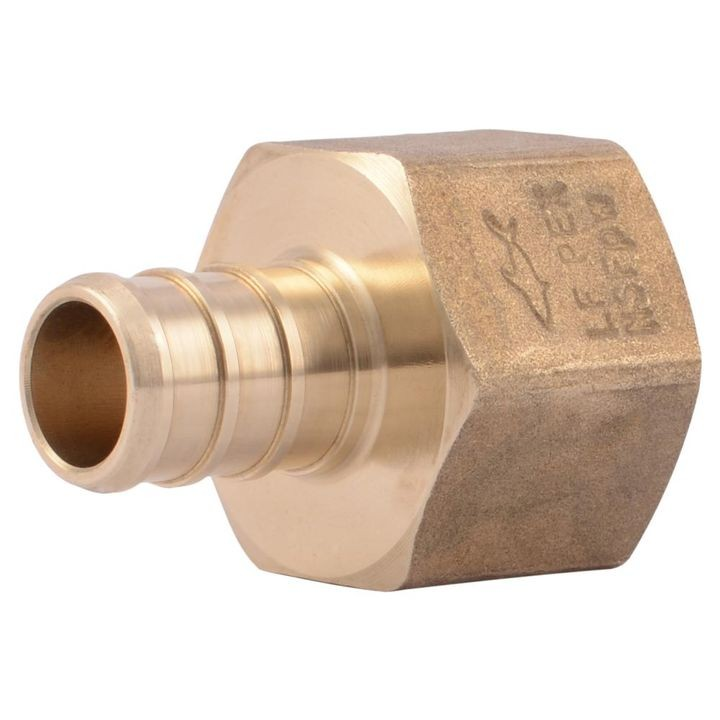 "1/2"" PEX Barb x FIP Brass Adapter Fitting"