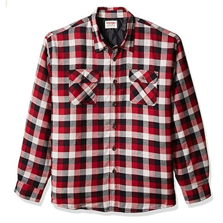 Mens Quilted Lined Flannel Shirt Theisens Home Auto