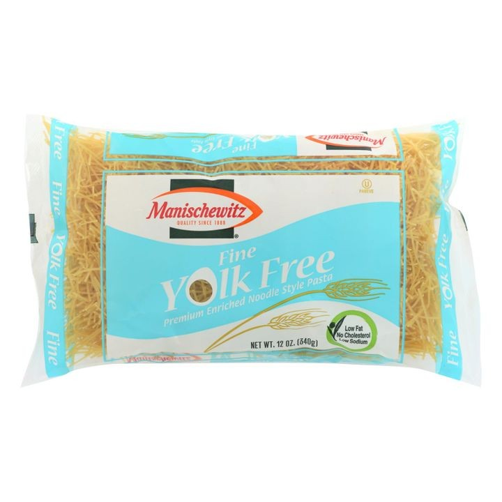 - Yolk Free Fine Noodles - Case Of 12 - 12 Oz.