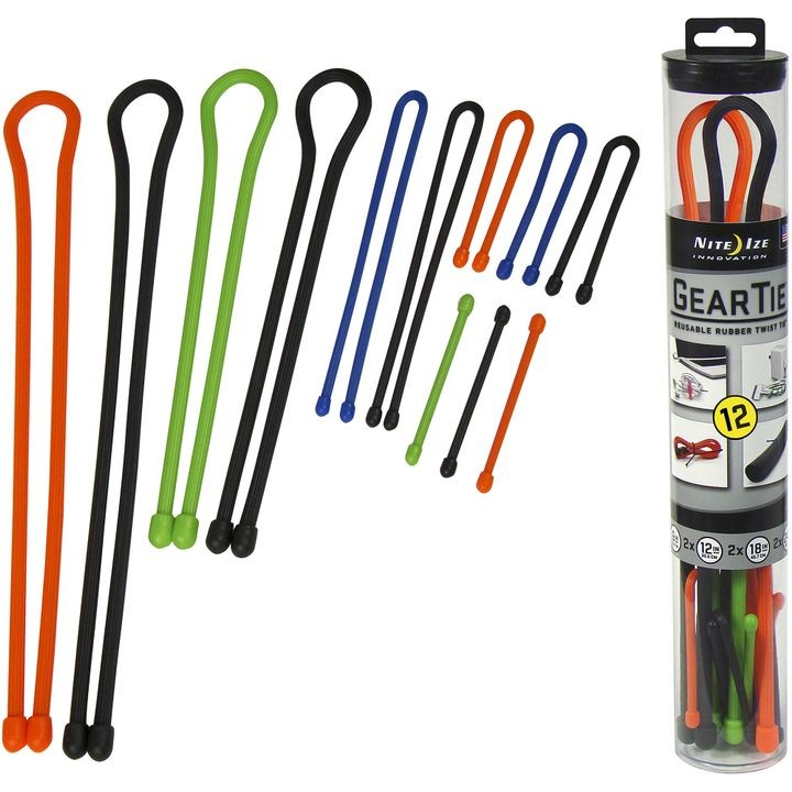 12 Pack Assortment Gear Tie Tube