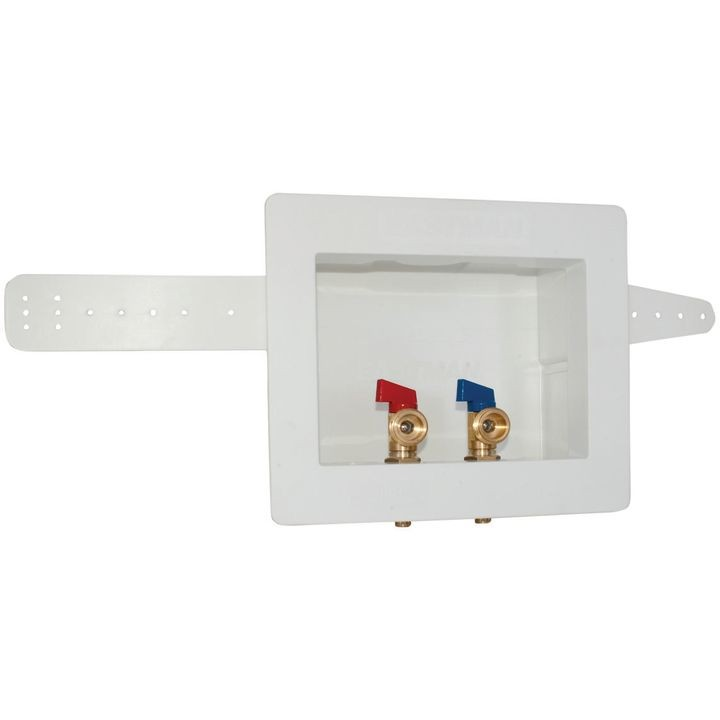 Dual Outlet Washing Machine Outlet Box 12 In Pex Inlet 8 1316 In