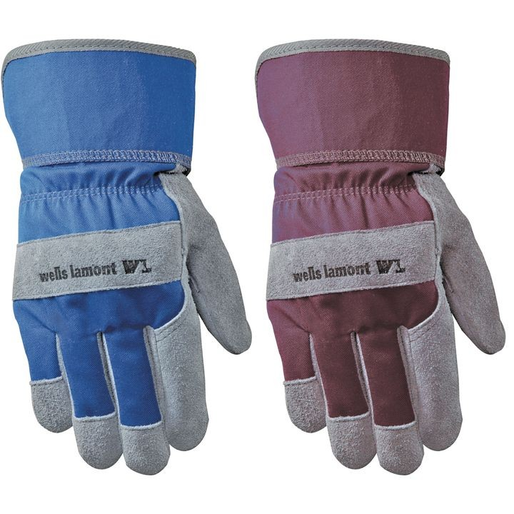 Ladies' Suede Cowhide Leather Palm Gloves