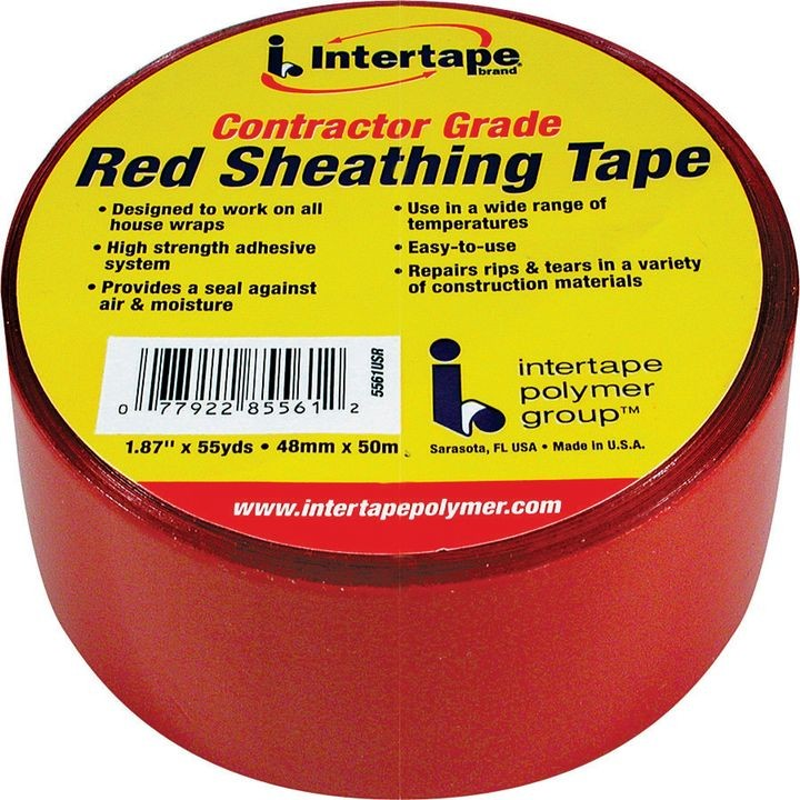 IPG 5561usr Sheathing Tape, 50 M L, 48 Mm W, Acrylic Adhesive, Red