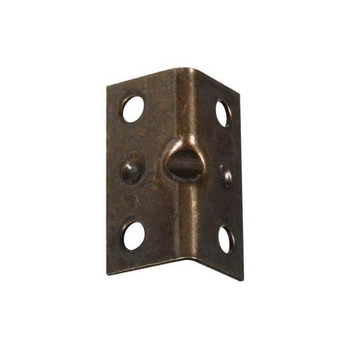 1.5 x 3/4 Inch Antique Brass Corner Brace