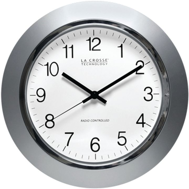 La Crosse Wt 3144s Atomic Wall Clock Analog Display 14 In