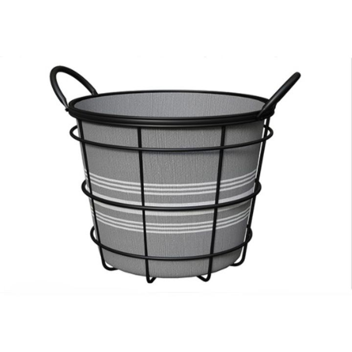 "10"" Wire Basket Bushel with Liner"