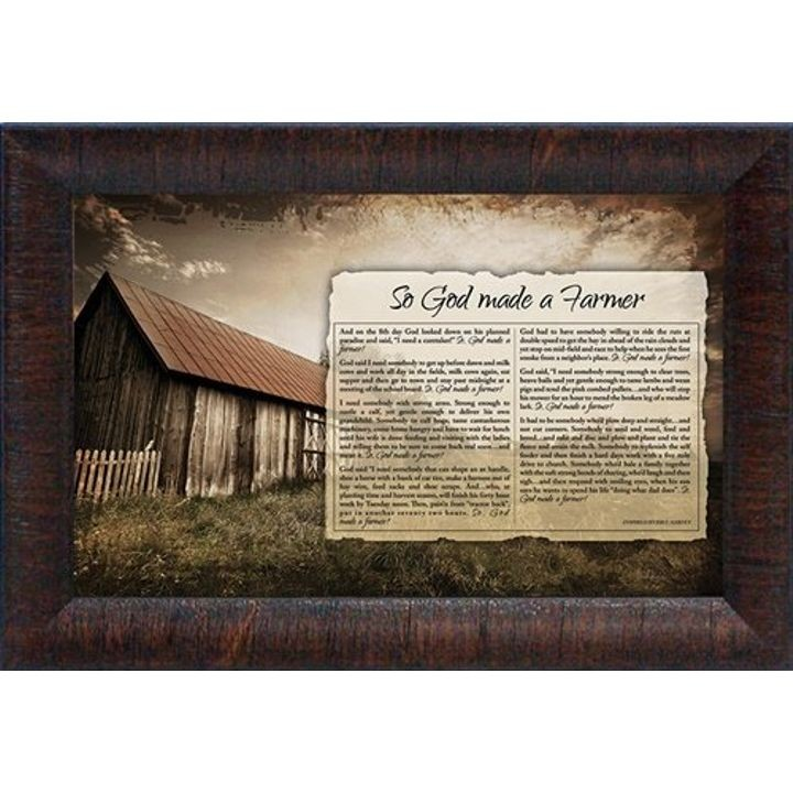 """So God Made A Farmer"" Wall Art"