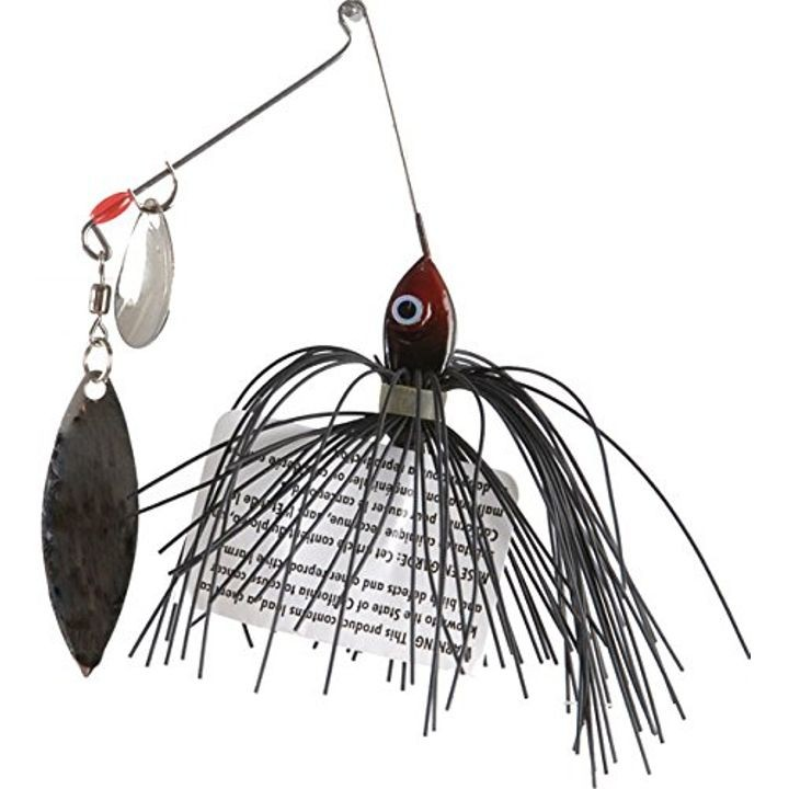 1/8 oz Premier Pro-Model Colorado Willow Spinnerbait - Black