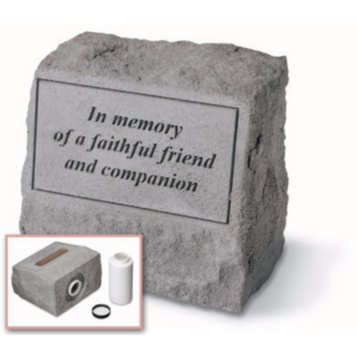 """In Memory Of…"" Headstone With Built-In Urn"