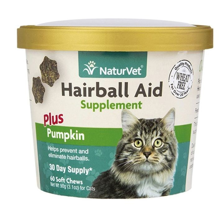 Hairball Aid Supplement Plus Pumpkin For Cats