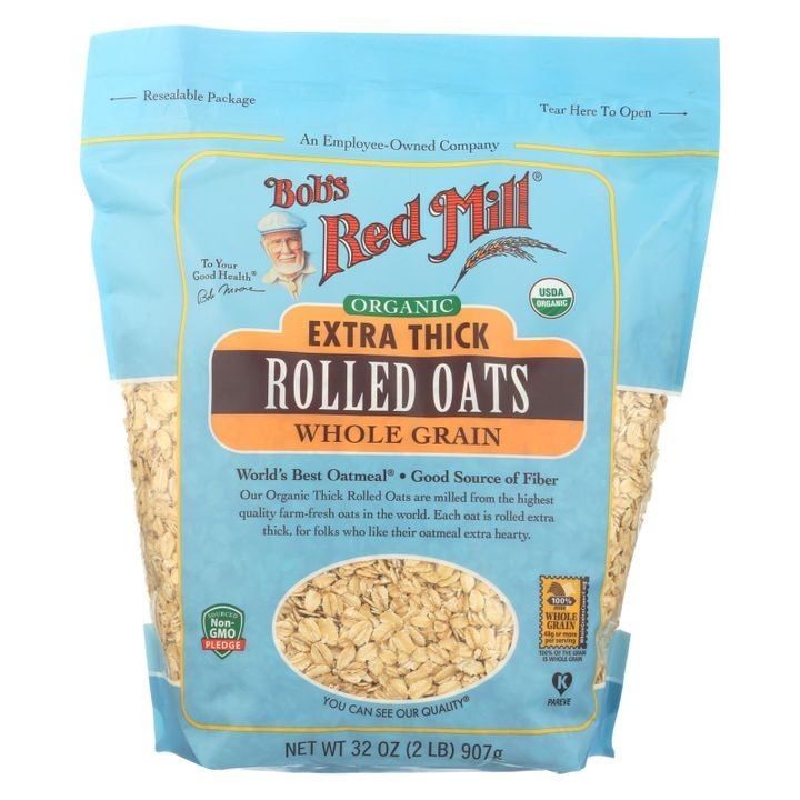 - Oats - Organic Extra Thick Rolled Oats - Whole Grain - Case Of 4 - 32 Oz.