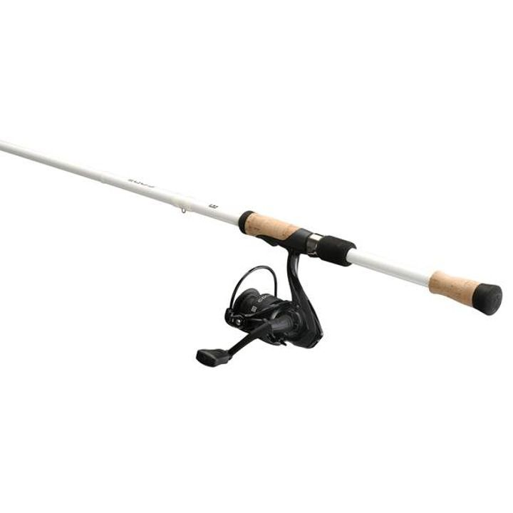 "13 Fishing 6'6"" Medium Light Code White Fishing Rod & Reel Spinner Combo"