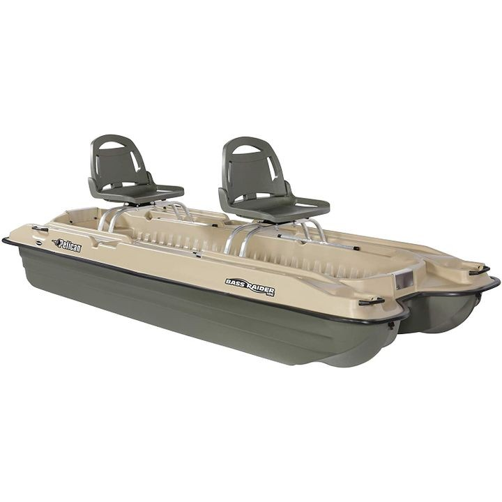 "Bass Raider 10E 10'2"" Pontoon Khaki Boat"