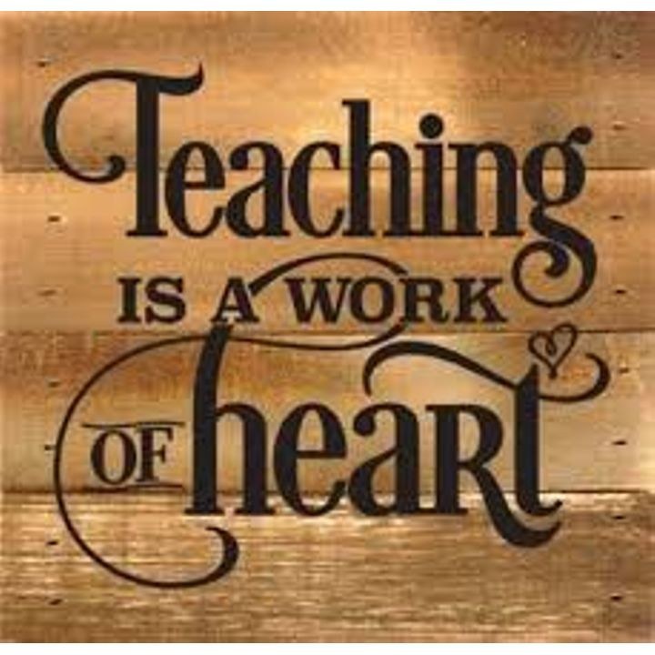 """Teaching is a Work of Heart"" Boxed Art"